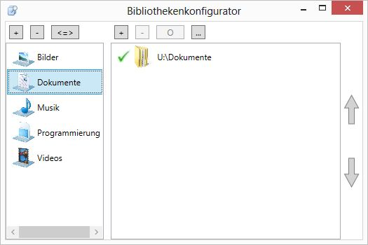 Programm zur Konfiguration der Windows-Bibliotheken