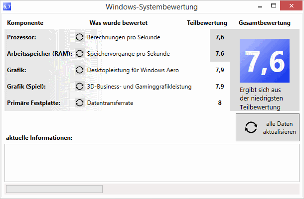 Windows Systembewertung